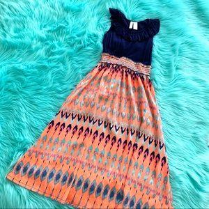Girls Boho Dress 6X Japna brand. Tribal feather